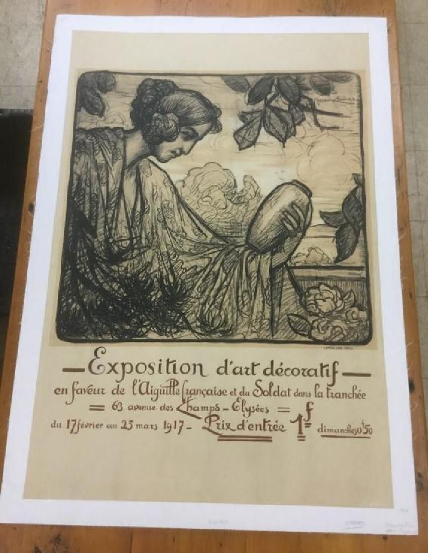 FRENCH EXPOSITION POSTER, C. 1917, LINEN BACKED,