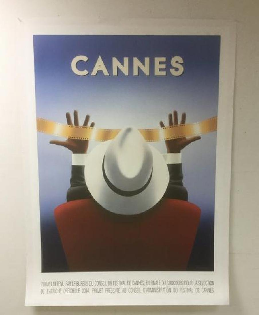 CANNES FILM LARGE POSTER BY RAZZIA, SIGNED IN LOWER