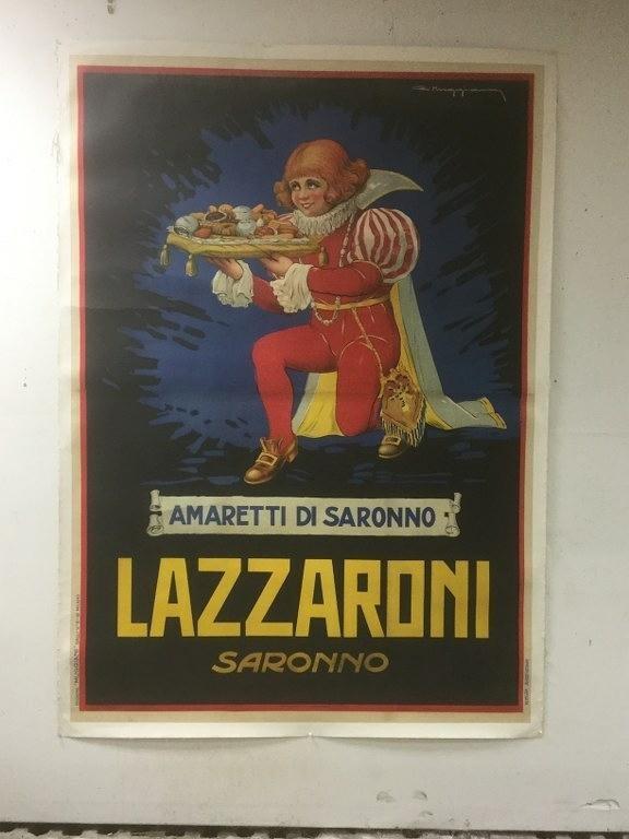 LAZZARONI SARONNO LARGE ITALIAN CIRCA 1925 POSTER,