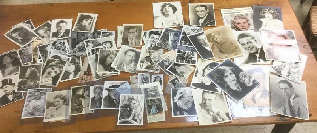 LOT OF PHOTOGRAPHS, PREMIUMS, POSTCARDS, OVER 100, SOME