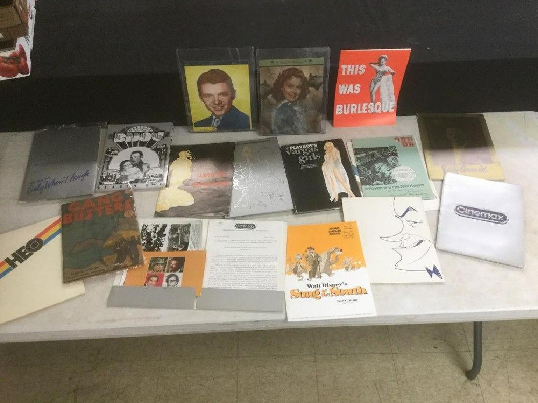 LOT OF MOVIE PRESS BOOKS AND AUDIE MURPHY TABLET WITH