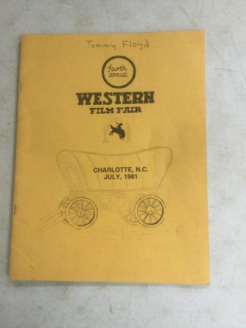 AUTOGRAPHED PROGRAM FROM FOURTH ANNUAL WESTERN FILM