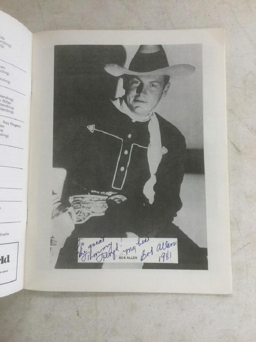 AUTOGRAPHED PROGRAM FROM FOURTH ANNUAL WESTERN FILM - 2