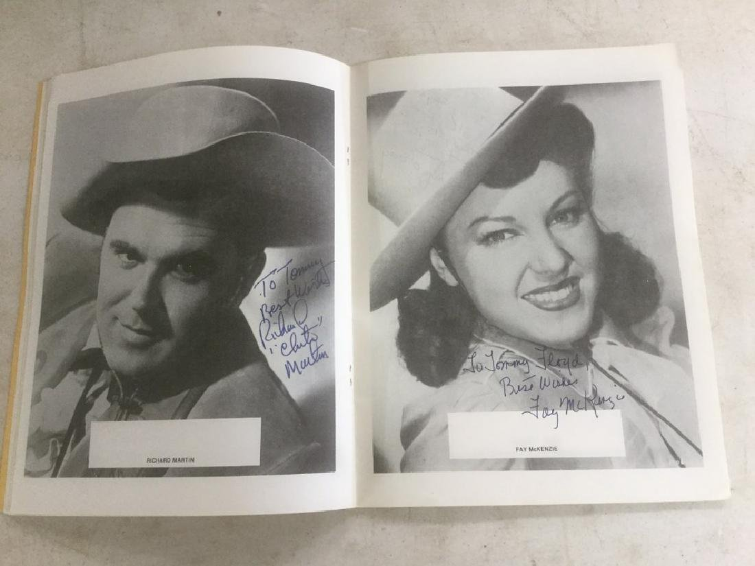 AUTOGRAPHED PROGRAM FROM FOURTH ANNUAL WESTERN FILM - 5