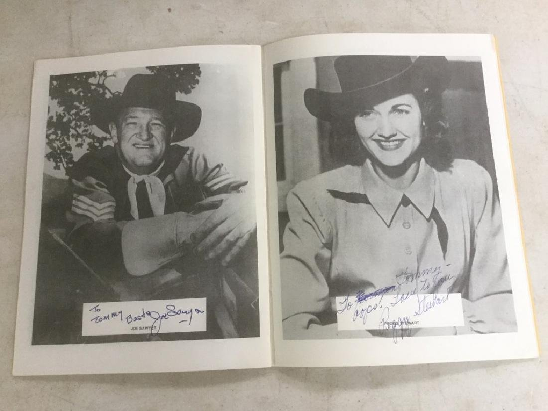 AUTOGRAPHED PROGRAM FROM FOURTH ANNUAL WESTERN FILM - 7
