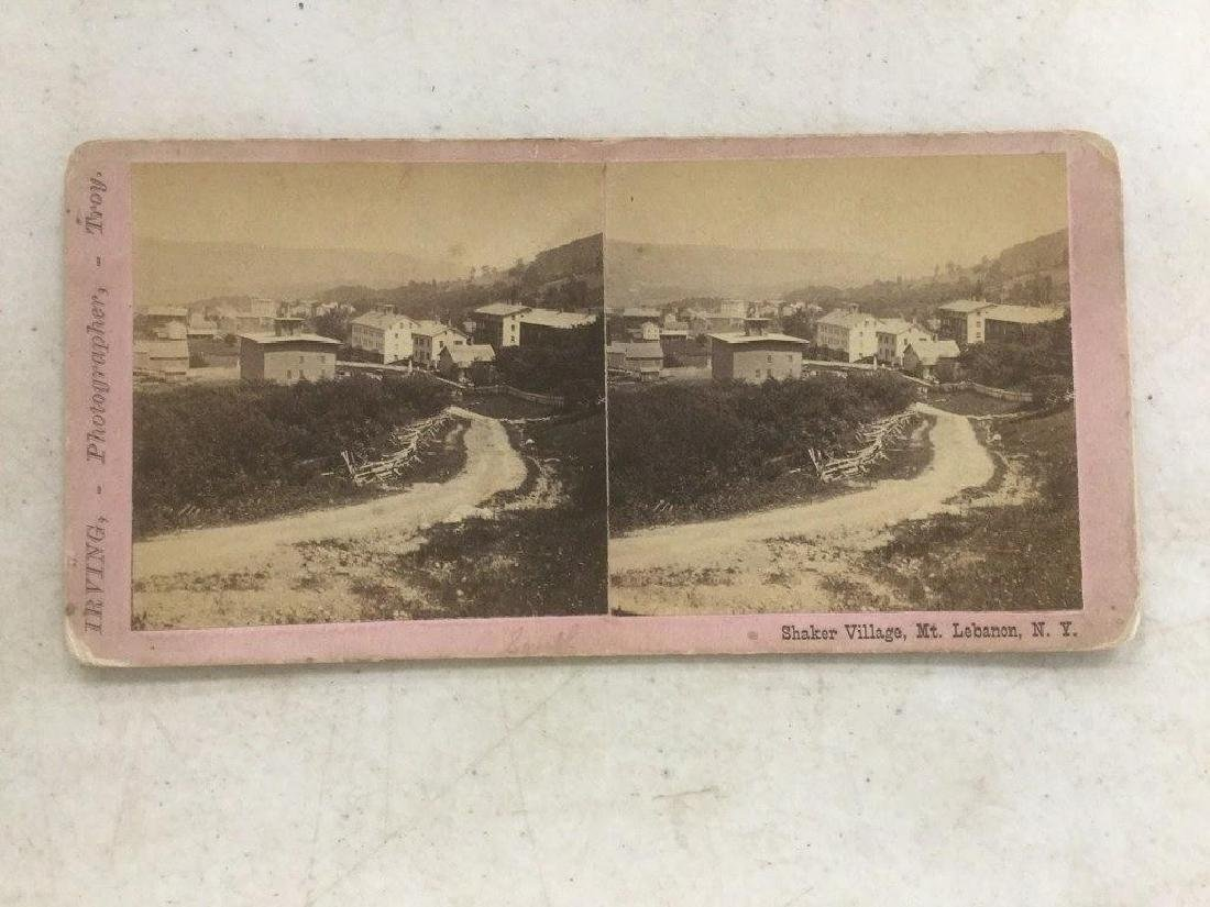 SHAKER VILLAGE, MT. LEBANON N.Y. SHAKER STEREOVIEW