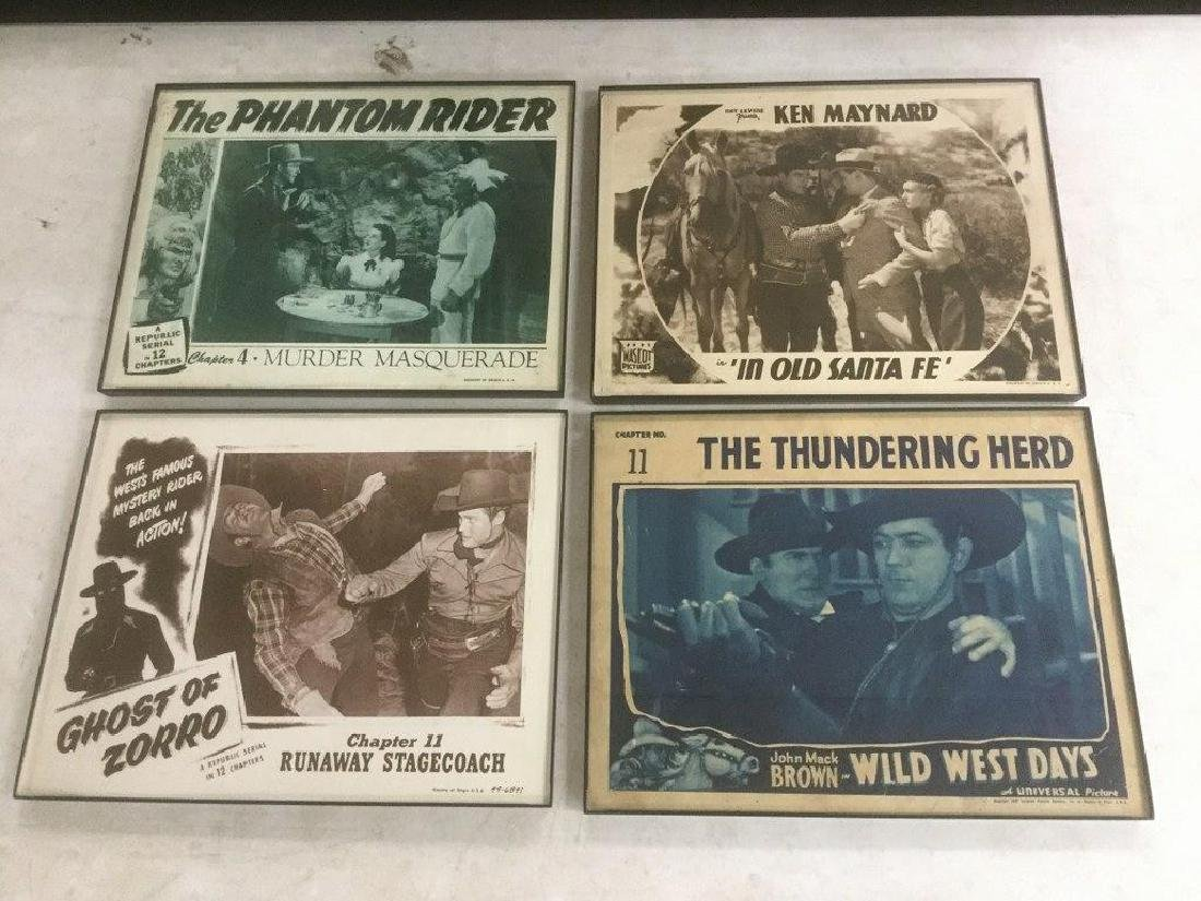 4 WESTERN LOBBY CARDS, 1930'S-40'S, INCLUDING GHOST OF