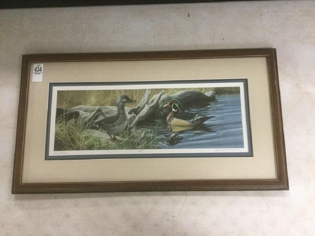 GERALD LUBECK SIGNED COURTSHIP PRINT, PROFESSIONALLY