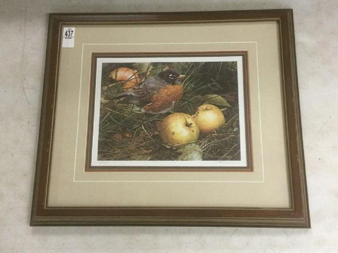 CARL BRENDERS SIGNED THE APPLE LOVER PRINT, #1299/1500,