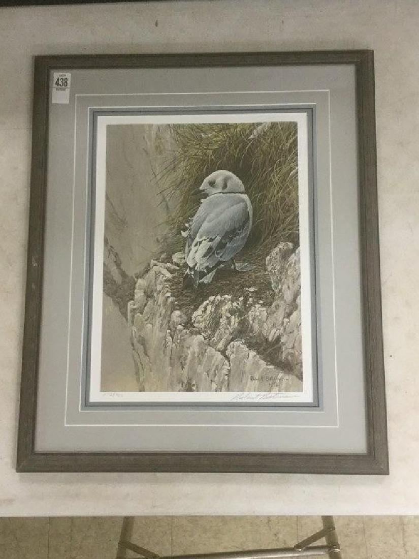 ROBERT BATEMAN SIGNED BIRD PRINT, #275/950,