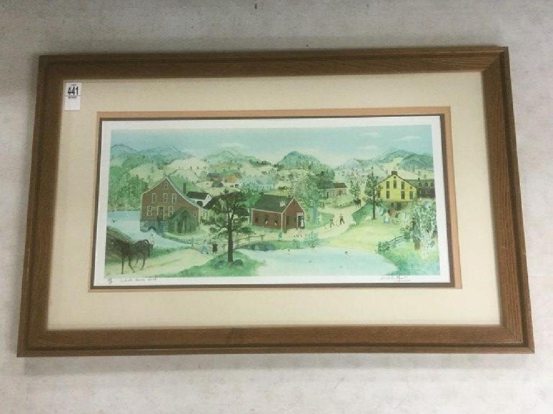WILL MOSES SIGNED SCHOOL HOUSE POND PRINT, #377/500,