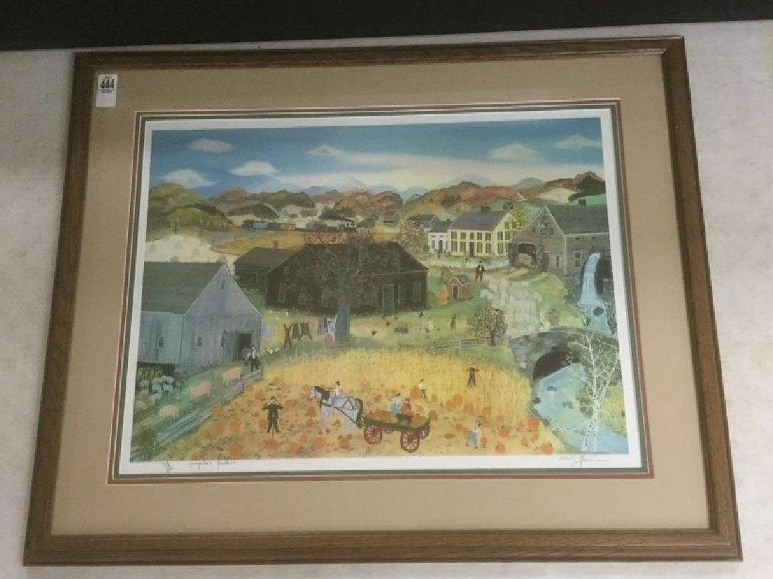WILL MOSES SIGNED PUMPKIN PICKERS PRINT, #108/500,