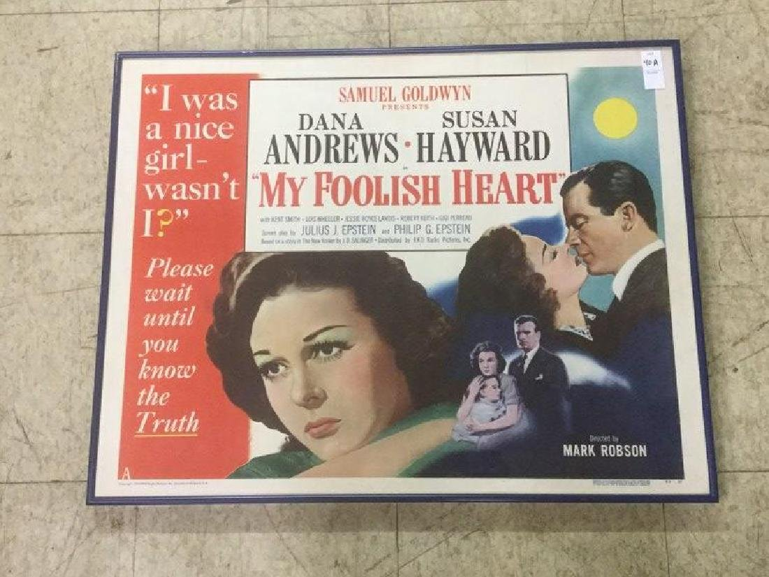 MY FOOLISH HEART HALF SHEET MOVIE POSTER IN FRAME,