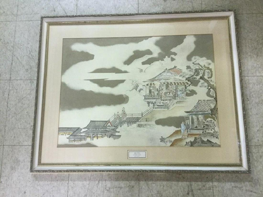 FRAMED KANO TANNYU ASIAN PRINT, NICELY FRAMED AND