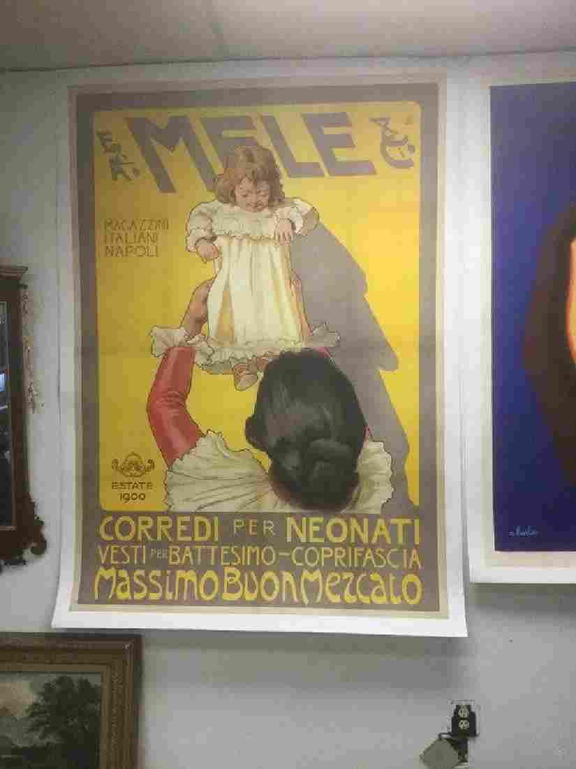 ITALIAN POSTER-E & A MELE & CI, LINEN BACKED, MAGAZZINI