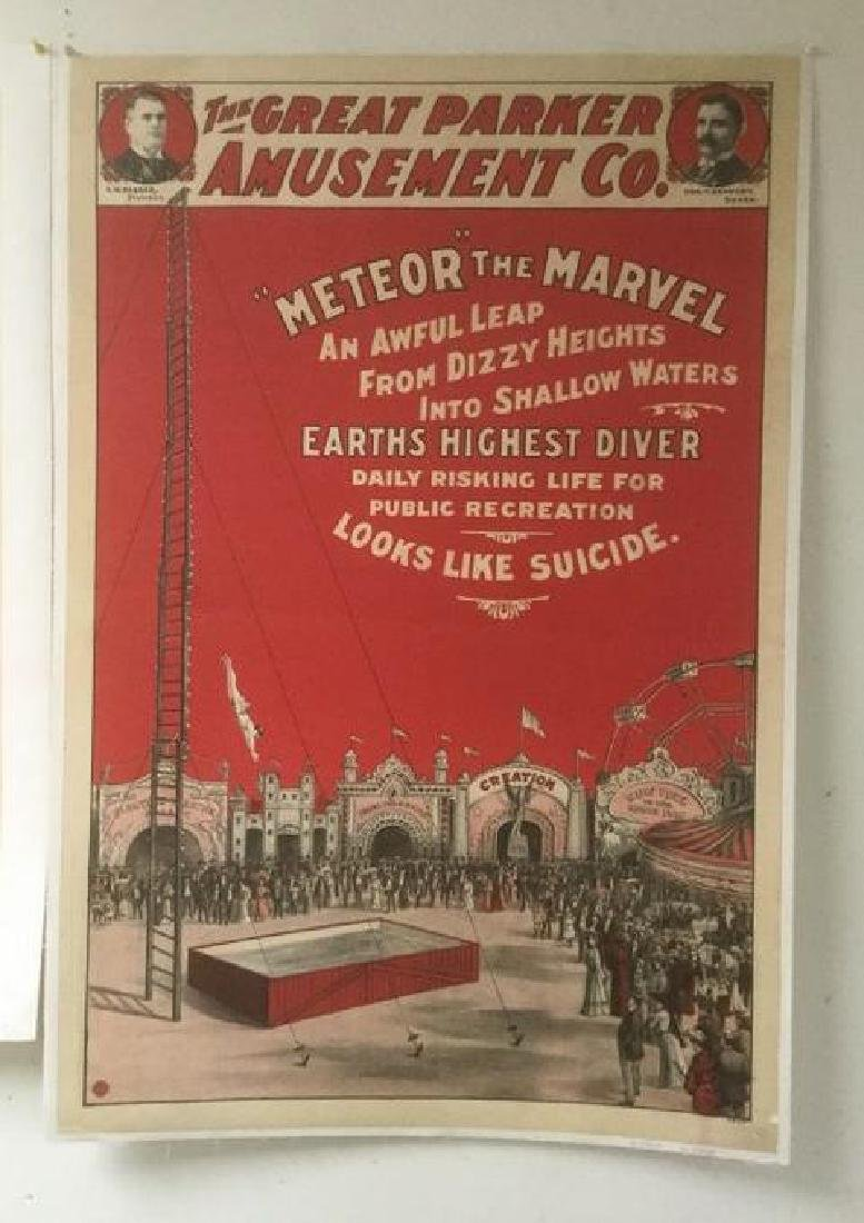 THE GREAT PARKER AMUSEMENT CO POSTER, C. 1900, FOR