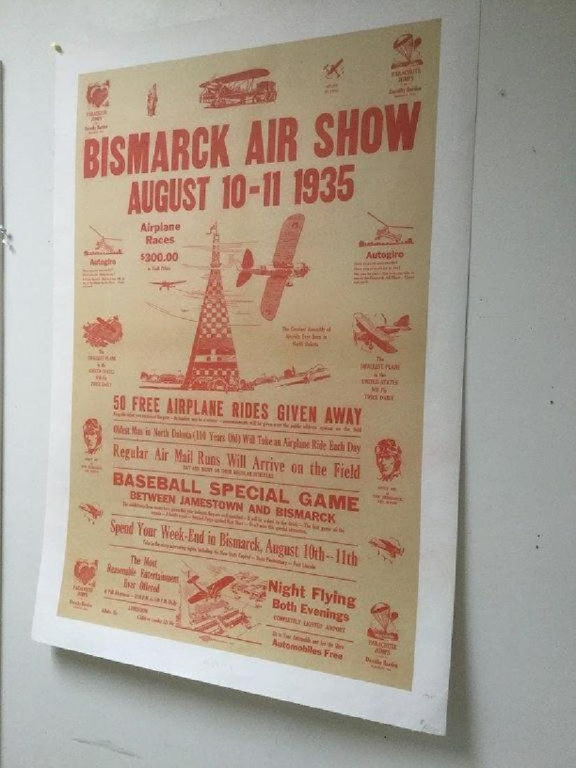BISMARCK AIRSHOW POSTER, 1935, GREAT GRAPHICS, VERY