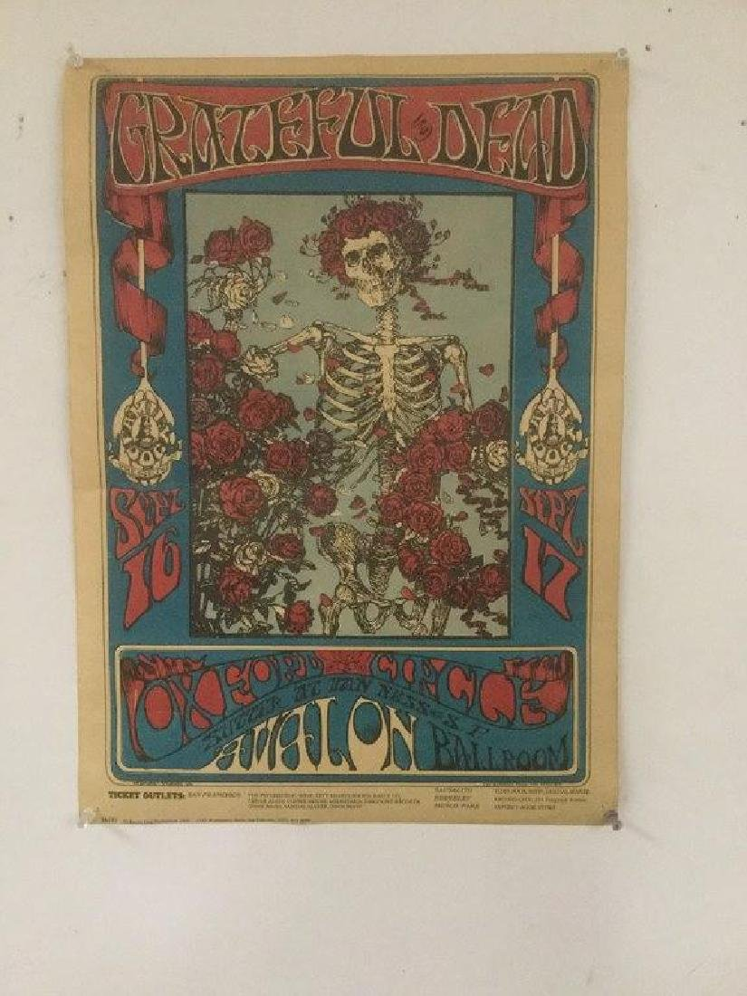 GRATEFUL DEAD 1966 ORIGINAL POSTER AVALON BALLROOM