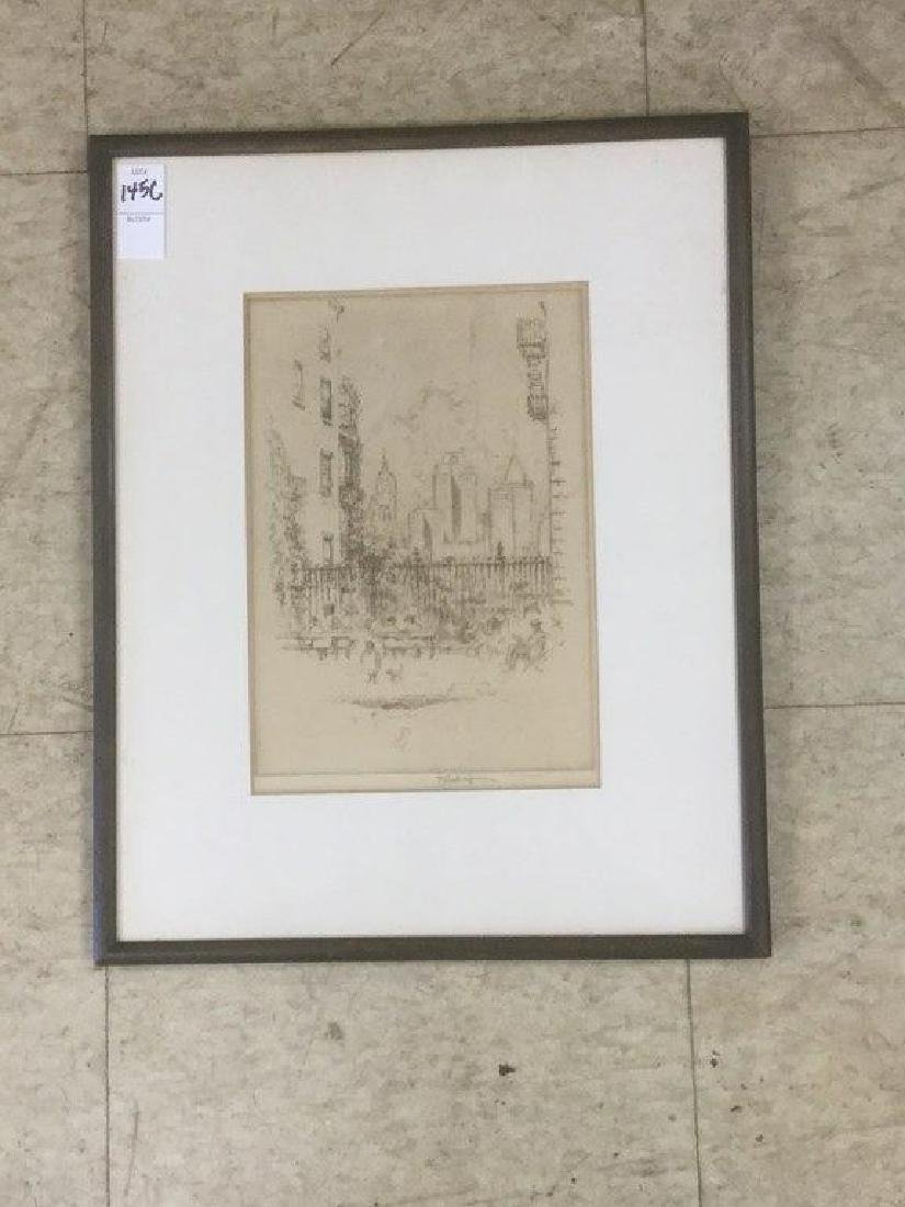 JOSEPH PENNELL SIGNED ETCHING TITLED ORANGE ???