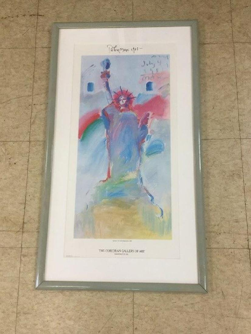 PETER MAX SIGNED POSTER STATUE OF LIBERTY 1981