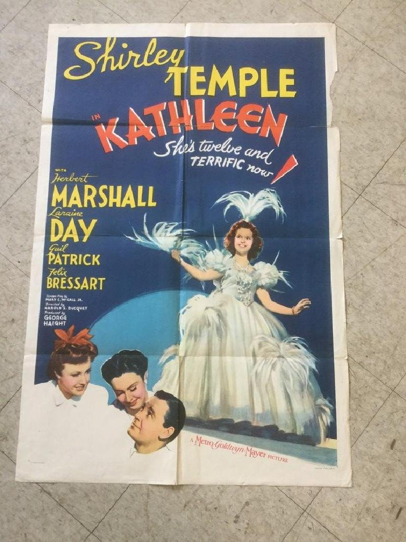 1 SHEET MOVIE POSTER SHIRLEY TEMPLE in KATHLEEN