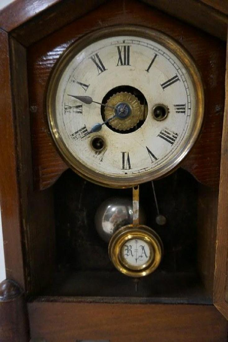 (3) EARLY MANTEL CLOCKS INCLUDING JEROME & CO. GOTHIC - 2