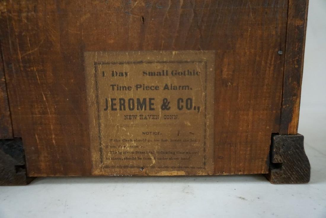 (3) EARLY MANTEL CLOCKS INCLUDING JEROME & CO. GOTHIC - 5