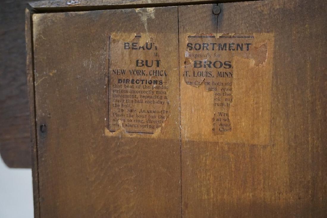 (2) VICTORIAN MANTEL CLOCKS INCLUDING OAK GINGERBREAD - 4