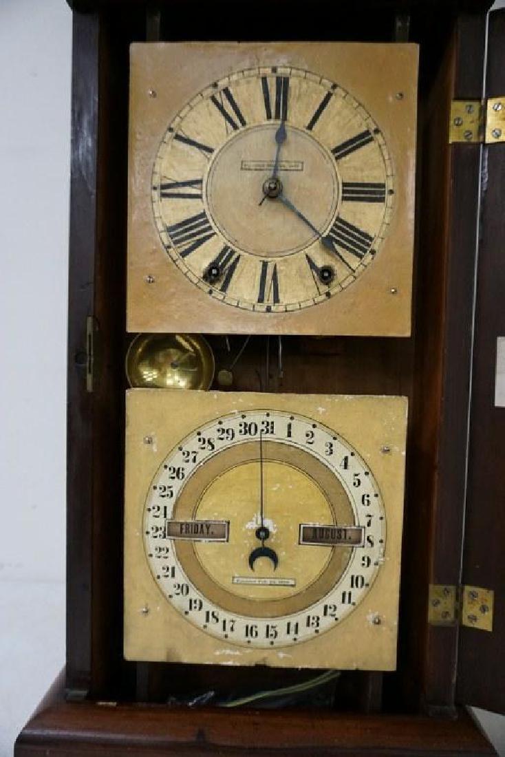 SETH THOMAS ROSEWOOD CALENDAR CLOCK, RUNNING, HAS KEY - 3