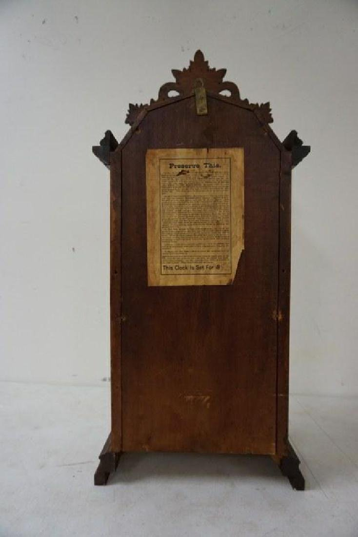 ITHACA CALENDAR CLOCK, VICTORIAN PERIOD, WALNUT, - 4