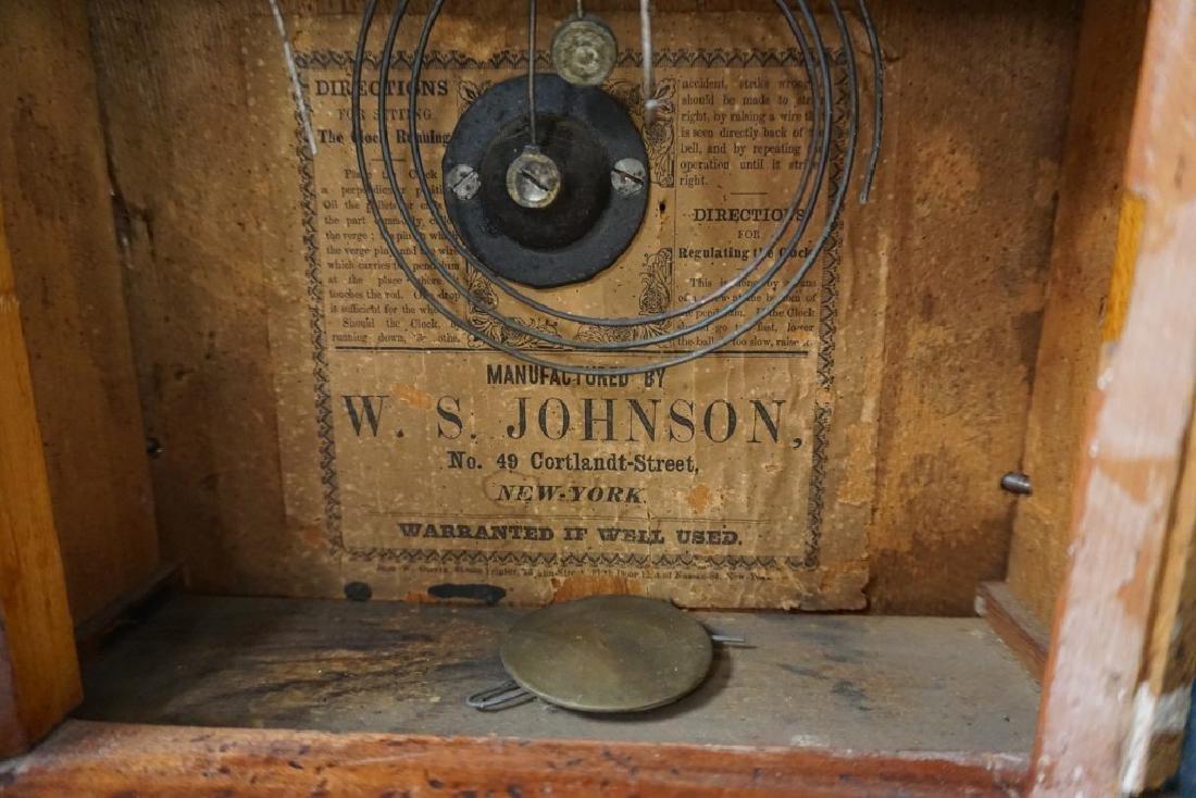 W.S. JOHNSON MAHOGANY BEEHIVE CLOCK WITH REVERSE - 3