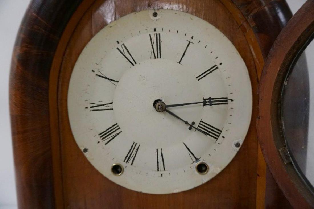 W.S. JOHNSON MAHOGANY BEEHIVE CLOCK WITH REVERSE - 4
