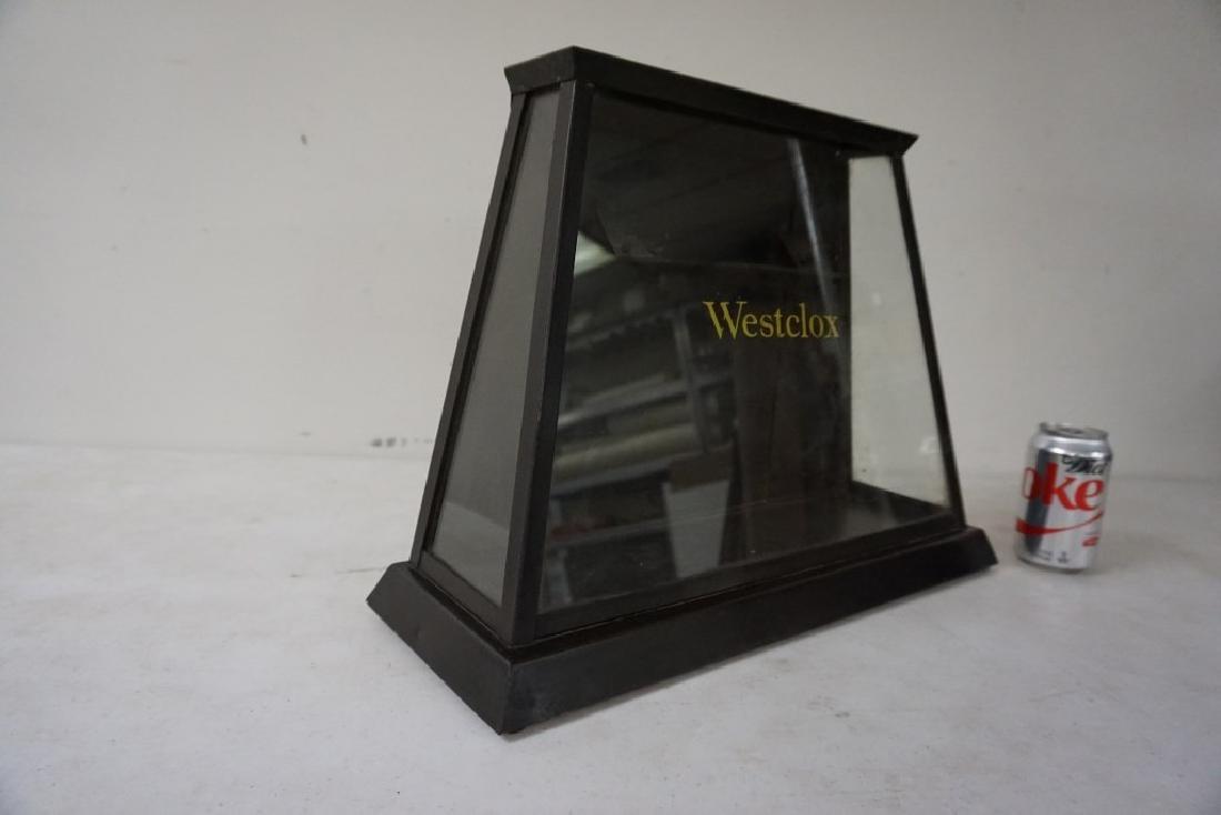 OLD WESTCLOX ADVERTISING DISPLAY CASE, METAL, DOOR IN - 2