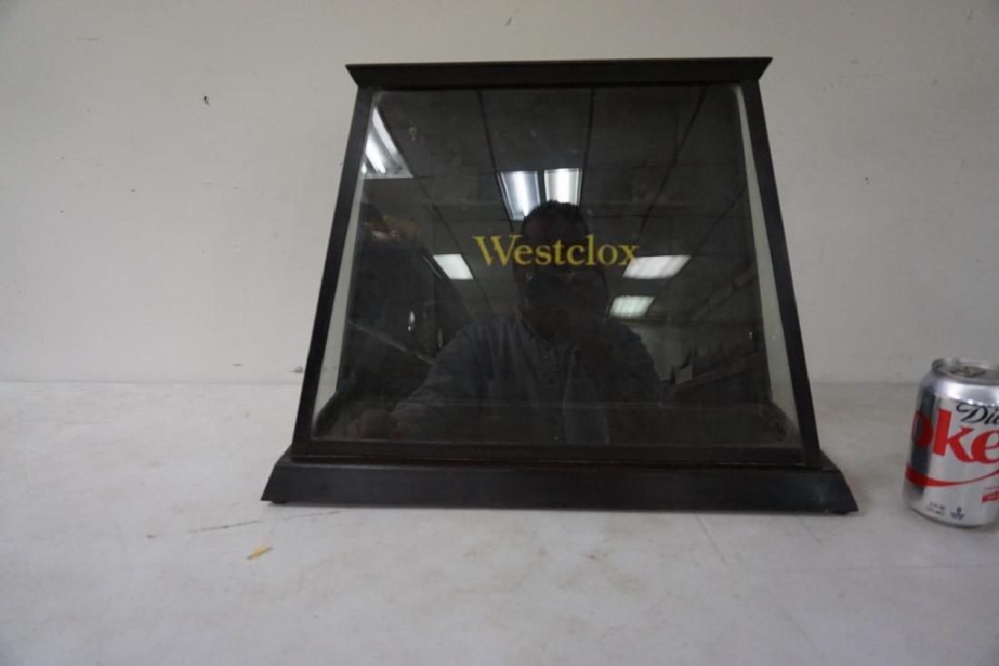 OLD WESTCLOX ADVERTISING DISPLAY CASE, METAL, DOOR IN - 3