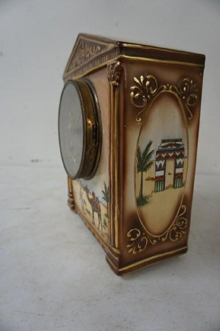 GILBERT SAHARA PORCELAIN MANTEL CLOCK, HAS HAIRLINE - 3