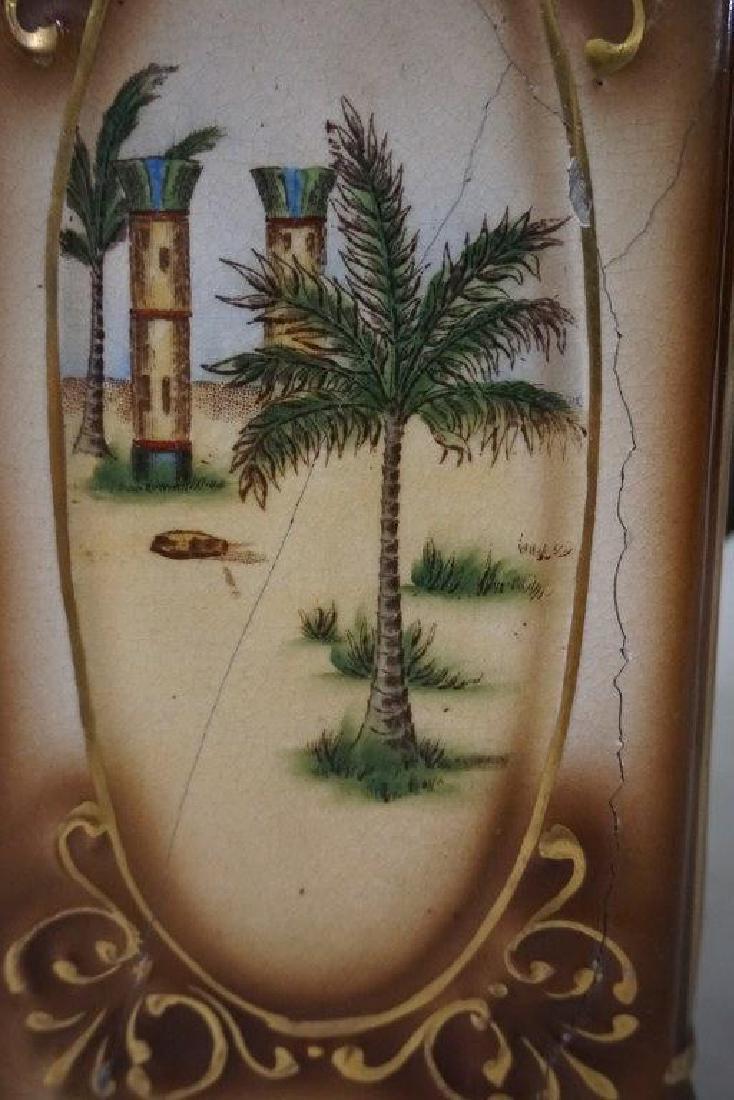 GILBERT SAHARA PORCELAIN MANTEL CLOCK, HAS HAIRLINE - 5