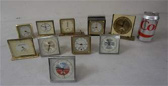 LOT OF 10 MECHANICAL ADVERTISING CLOCKS WITH MOVING