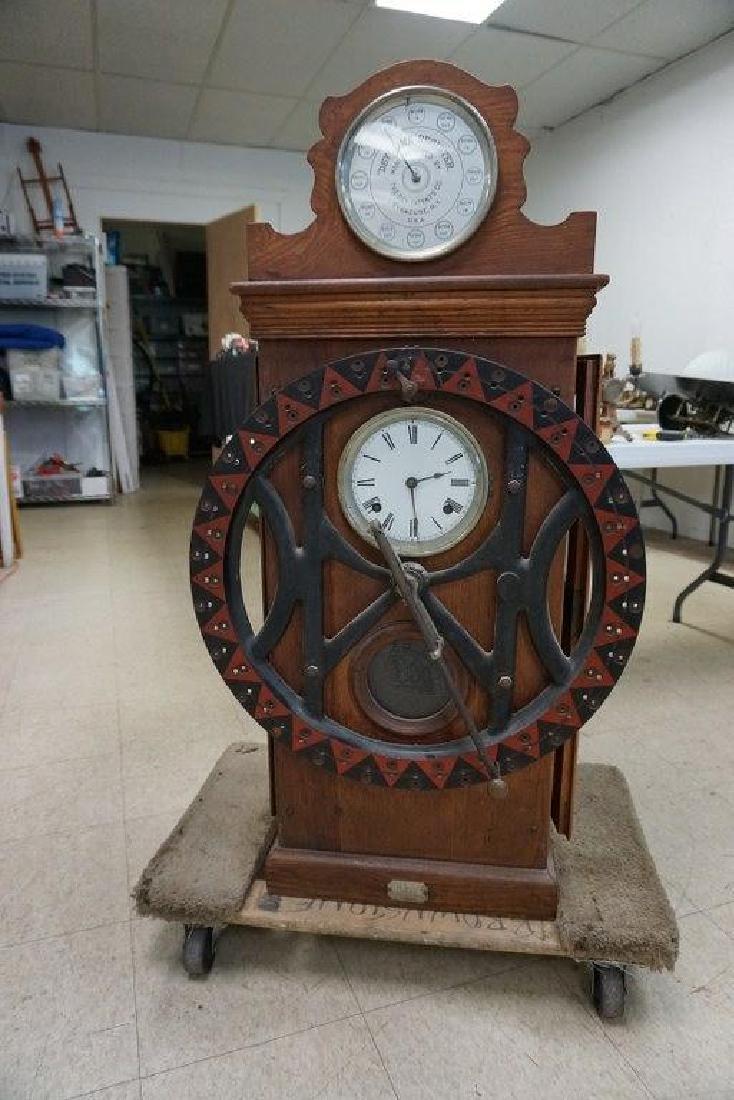 DEY TIME REGISTER CLOCK, ORIGINAL FINISH, ORIGINAL - 10