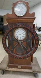DEY TIME REGISTER CLOCK, ORIGINAL FINISH, ORIGINAL