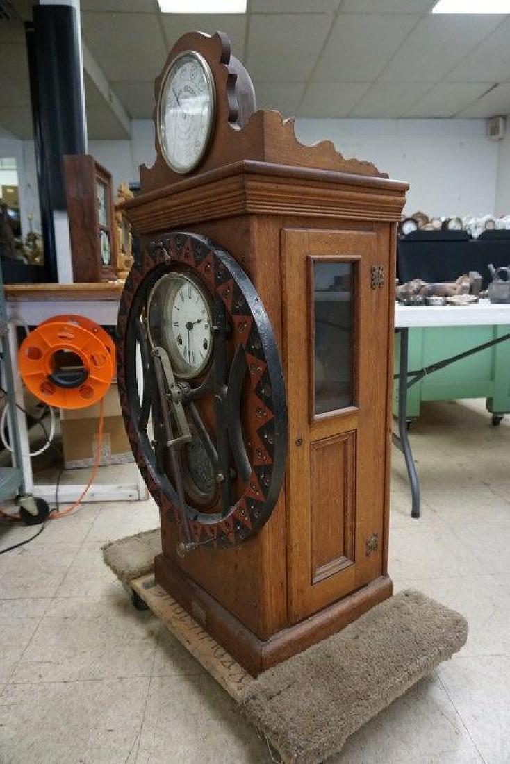 DEY TIME REGISTER CLOCK, ORIGINAL FINISH, ORIGINAL - 4