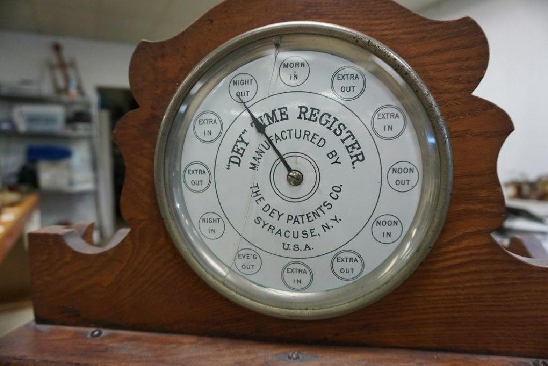 DEY TIME REGISTER CLOCK, ORIGINAL FINISH, ORIGINAL - 7
