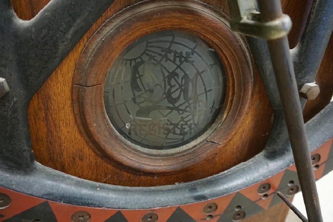 DEY TIME REGISTER CLOCK, ORIGINAL FINISH, ORIGINAL - 8