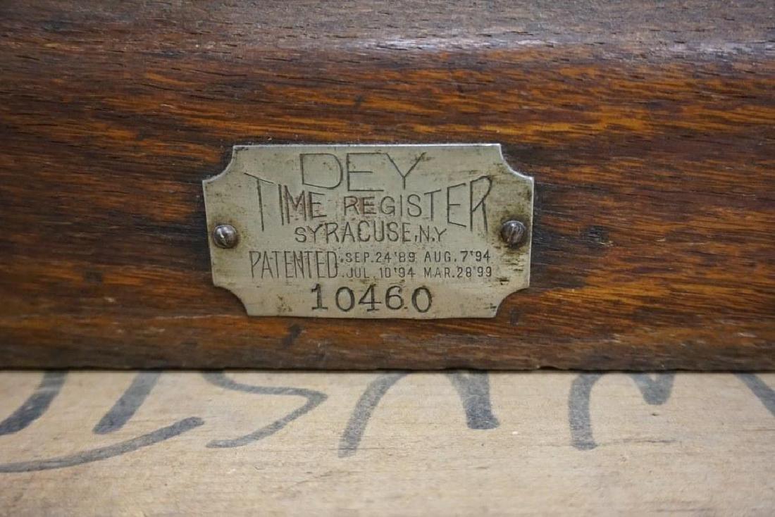 DEY TIME REGISTER CLOCK, ORIGINAL FINISH, ORIGINAL - 9