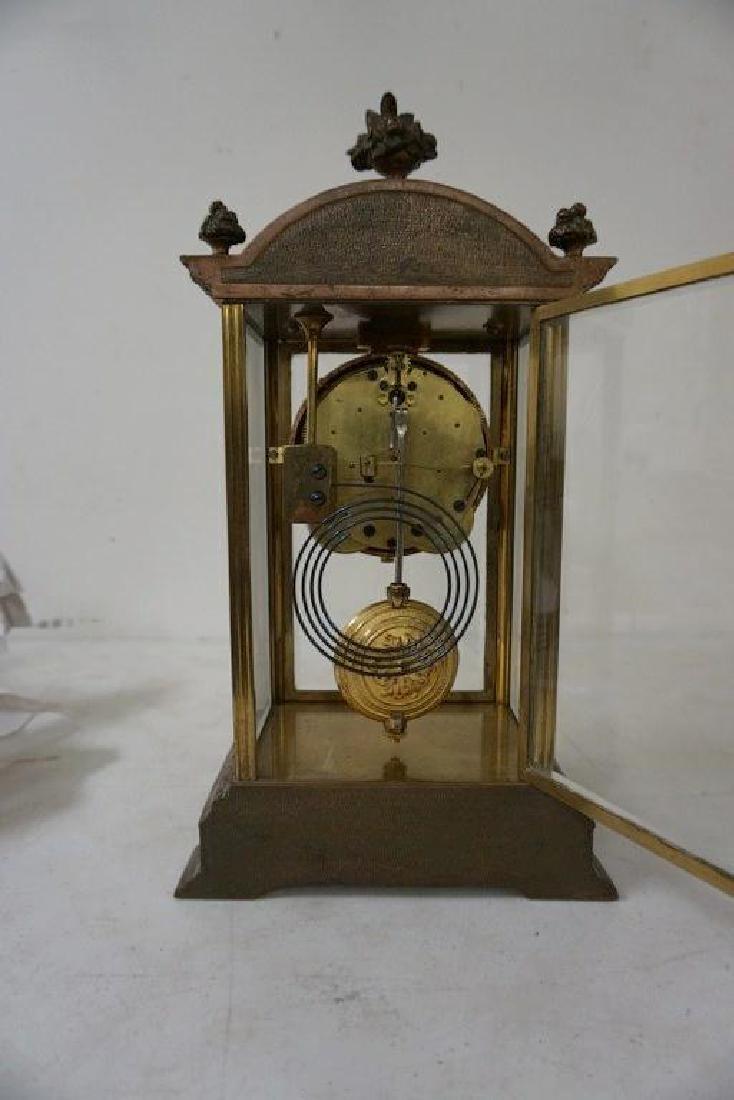 SETH THOMAS BRONZE CRYSTAL REGULATOR CLOCK, PAINTED - 5