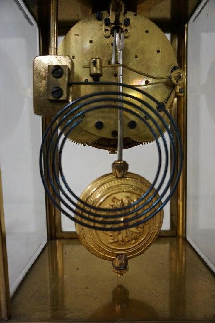 SETH THOMAS BRONZE CRYSTAL REGULATOR CLOCK, PAINTED - 6