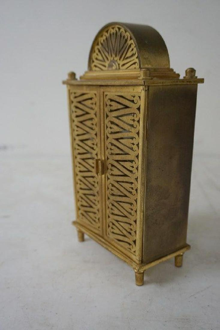 UNUSUAL LE COULTRE INLINE BRASS CLOCK, GOOD CONDITION - 5