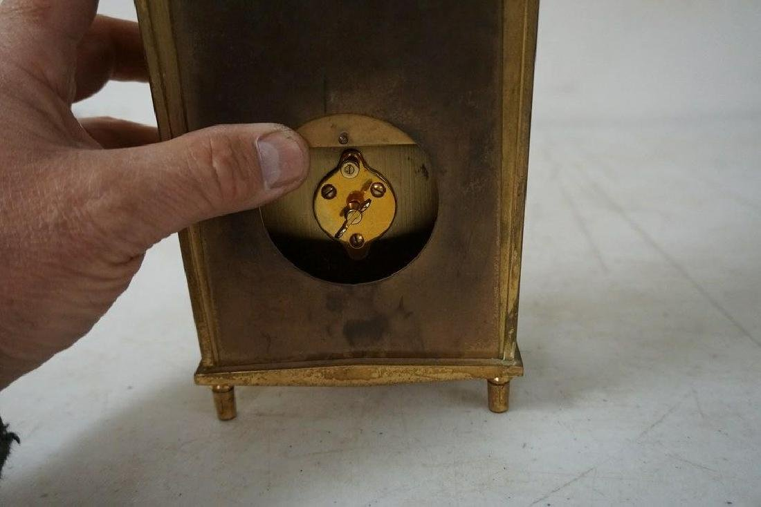 UNUSUAL LE COULTRE INLINE BRASS CLOCK, GOOD CONDITION - 7