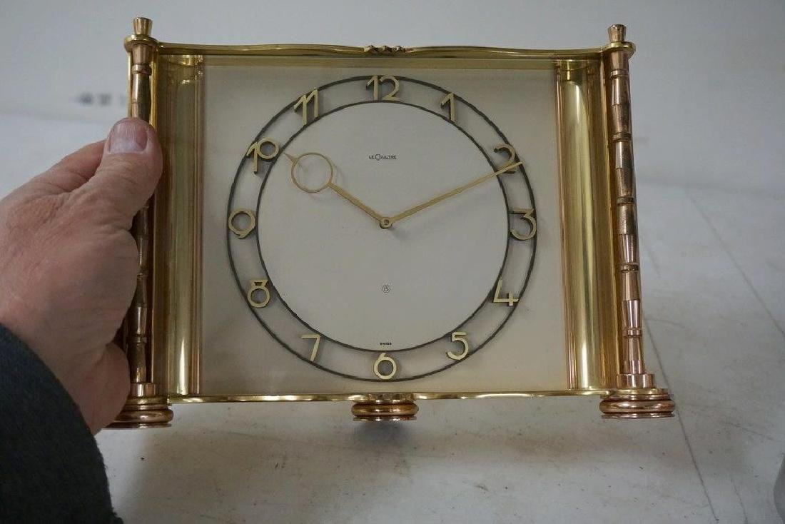 LARGE LE COULTRE BRASS CLOCK, NOT RUNNING, FROM THE