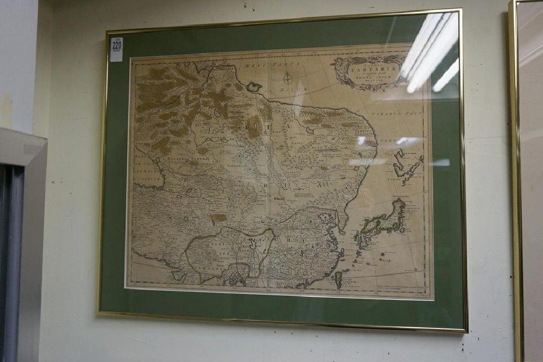 EARLY CHINA MAP TABULA TARTARIE ET MAJORIS PARTIS REGNI - 2