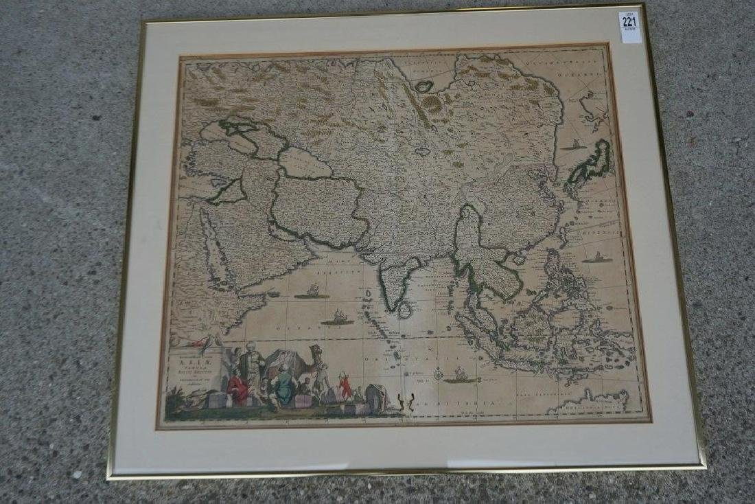 EARLY HANDCOLORED MAP OF ASIA, FROM GROUP WE ARE